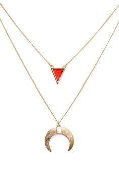 LUNAR NECKLACE GOLD METAL, , view-small
