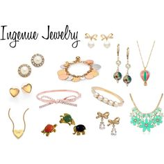 Ingenue Jewelry by expressingyourtruth on Polyvore featuring Mode, Kate Spade and Kenneth Jay Lane