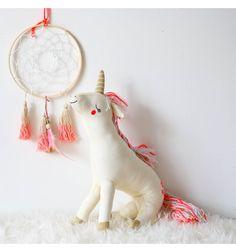 Poupée licorne tricotée coton - Meri Meri