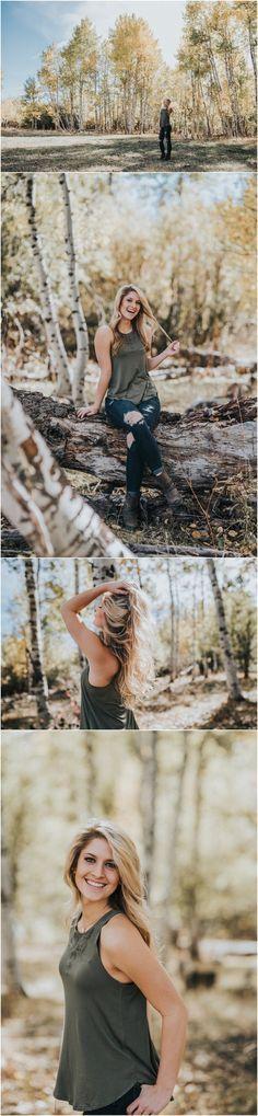 Makayla Madden Photography // Mountain senior session // Senior Pictures // Senior photography // Senior photographer // Senior pictures posing ideas and inspiration // Senior pictures outfit and location ideas and inspiration // Senior girl // Boise Idaho // Fall senior pictures // Aspens // Fall outfit ideas //