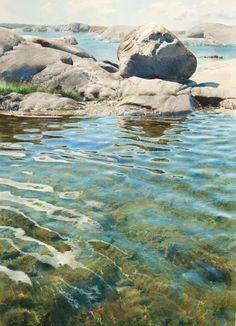 Stanislaw Zoladz (b. 1952 in Polen) Sweden - Watercolor