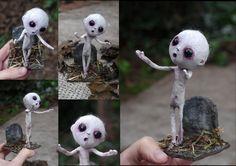 Grimoso, the creature. by Lauramei on DeviantArt Paper Mache Sculpture, Sculpture Art, Sculptures, Zombie Dolls, Creepy Dolls, Clay Dolls, Art Dolls, Halloween Crafts, Halloween Decorations