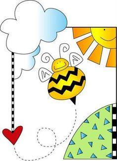 Imagenes y dibujos para imprimir: Imprimir imagenes infantiles abejas