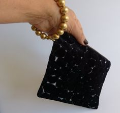 The perfect wriststlet bag cotton velvet 100 Made by vquadroitaly, €40.00
