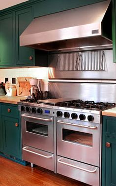 commercial-quality kitchen range with range hood