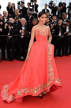 "Frieda Pinto at ""The Homesman"" premiere during the 67th Annual Cannes Film Festival. Photo: Getty Images"