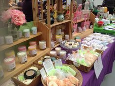 Organic Scents - simple craft fair candle display