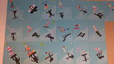 Gaaf idee bij de winterspelen; schaduw maken door het figuurtje over te laten trekken op zwart papier (via Facebook Ada Bakker Bovenbouwwereld)