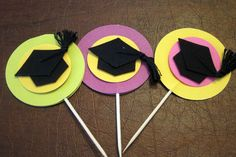 2012 High School Graduation Tips Preschool Graduation, Graduation Diy, High School Graduation, Cupcake Pictures, Cupcake Pics, Graduation Cupcake Toppers, Grad Parties, Unusual Gifts, Scrapbook Paper Crafts