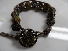 Copper Gray Black Animal Round Beads Citrine by ArtsyTreasures, $12.00