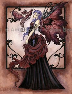 """""""Instructions"""" ORIGINAL ART - Watercolor Paintings I - P - Amy Brown Fairy Art - The Official Gallery"""