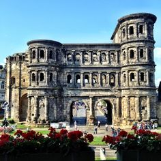 Porta Nigra, (black gate). The largest Roman gate north of the Alps in Trier, the oldest City in Germany once the second Capital of the Roman Empire.