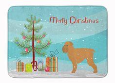 Brussels Griffon Merry Christmas Tree Machine Washable Memory Foam Mat BB2958RUG