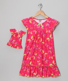 Look what I found on #zulily! Red Dragonfly Nightgown & Doll Outfit - Girls by Dollie & Me #zulilyfinds