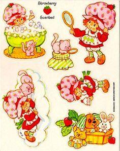 Vintage Baby Strawberry Shortcake Clip Art | Vintage Strawberry Shortcake stickers | Childhood Memories | Pinterest ...