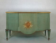 Andre Arbus, Celadon green lacquered Chest , 1942