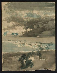 """ Joseph Mallord William Turner (1775-1851 English) • Study of the Sun among Clouds """