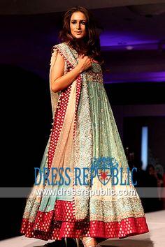 Aqua Red Vagant, Product code: DR8416, by www.dressrepublic.com - Keywords: Indian Anarkali Suits 2013 Collection, Indian Designers Anarkalee Dresses Canada, USA, UK, Australia