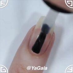 Jun 2019 - Easy handmade flower nail designs By: Yagala Nail Art Designs Videos, Nail Design Video, Nail Art Videos, Nail Polish, Gel Nail Art, Easy Nail Art, Nail Nail, Acrylic Nails, Flower Nail Designs