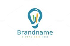 Smart Strategy Bulb by Zack Fair Design on Preschool Logo, Preschool Science Activities, Science Classroom, Business Logo, Business Card Design, Foundation Logo, Logos Ideas, Brain Logo, Smart Strategy