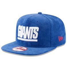 11d47e34dd5 New York Giants New Era Vintage Corduroy Original Fit 9FIFTY Snapback  Adjustable Hat - Royal