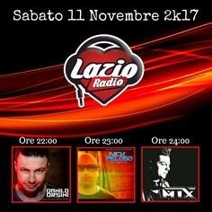 👉 SABATO 11 NOVEMBRE 👈 ➡️ Lazio Radio ⬅️ ▶️ Ore 22 Danilo Orsini #MainStage ▶️ Ore 23 Nick Peloso #LaDolceVita ▶️ Ore 23 Mjx #ShowOnAir ✅ Fm: 103.7 ✅ Streaming: http://www.lazioradio.it  #mixcloud #itunes #beatport #hearthis #Futurehouse #newsong #Commercialhouse #radioshow #podcast #festival #latinhouse #soundcloud #youtube #edmfamily #nowplaying #edmstyle #progressivehouse #electrohouse #bigroom #reggaeton #spotify #party #edm #tribalhouse #producer #vinyl #house