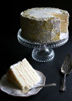 Champagne & St. Germaine Layer Cake | Butterlust Blog