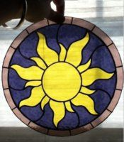 Rapunzel Sun - stained glass - make it out of craft paper?