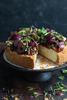 Stacked Savoury Blue Cheese Cheesecake via Crush! Beet And Goat Cheese, Goat Cheese Salad, Savory Cheesecake, Cheesecake Recipes, Blue Cheese Cheesecake Recipe, Savoury Baking, Savoury Cake, Savory Tart, Brunch