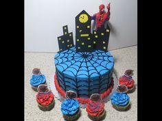 Cómo Cubrir Un Pastel Con Telaraña Muy Fácil (Hombre Araña) - Madelin's Cakes…