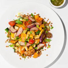 Vegetarian: Summer Vegetable Stir-Fry @keyingredient #vegetarian #recipes #vegetables #tomatoes
