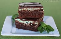 The BEST mint brownies. @Camille Hawkins Crandall, @Kristin Hancock, Em, and the rest of you gals...this is for you. :)