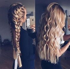 Holiday Party Braid Inspiration Pretty Braided Hairstyles, Trendy Hairstyles, Hair Inspo, Hair Inspiration, Hair Colour, Picture Description, Pinterest Hair, Haar Make-up, Dream Hair