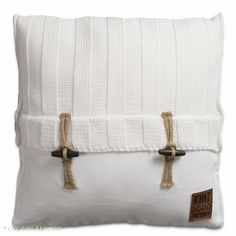 Kussen stoer Rib (wit) - Webshop - Cootjes Pakhuis - interieur & styling