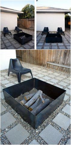 Casera caja de acero hueco del fuego