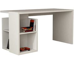 Письменный стол Worms - ДСП - белый, 75x140x60 см