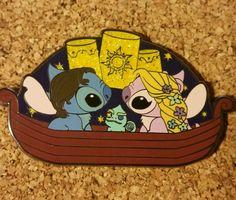 Disney pin fantasy tangled stitch angel rapunzel