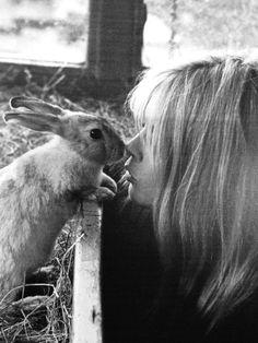 Brigitte Bardot and a rabbit. 1966 [::SemAp FB    SemAp::]