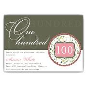 35 best 100th birthday party images on pinterest anniversary flirty floral 100th birthday invitations filmwisefo