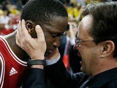 Coach Crean celebrating the B1G win with Victor Oladipo <3