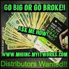 #gobigorgobroke #mhiincc #goodlife #dreamlife #freedom #wrapitup #ItWorks #boomtime #letsgo #blessedlife Www.mhiwrapsuskinny.com