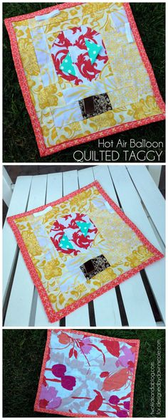 Hot Air Balloon Quilted Taggy Tutorial