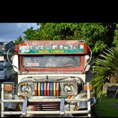 Jeepney, the local transpo in the Philippines..