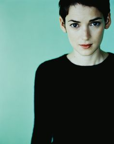 my girl Winona - my only slightly celebrity doppelgänger, rockin the super short hair like I wish I could