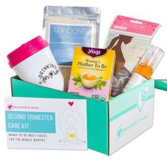 Ecocentric Mom Pregnancy Gift Box - Second Trimester Maternity Gifts with Non-Toxic, Organic, Natural & Unique Products - Sonogram Frame, Belly/Baby Oil, Foot Soak, Pregnancy Tea & Mug. //Price: $ //     #maternity