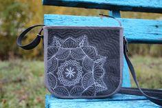 Джинсовая сумка, Лоскутная сумка, Стежка калейдоскоп