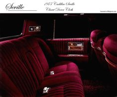 1977 Cadillac Seville | 1977 Cadillac Seville standard interior shown in Claret Dover Cloth ...