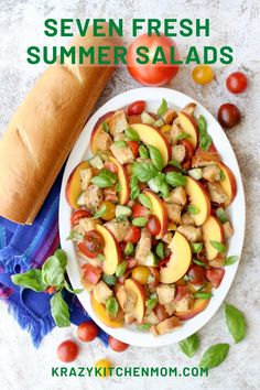 Seven Easy Fresh Summer Salads Seven big, bold, colorful, fresh summer salads to make for a casual family dinner, your next cookout, or a quiet afternoon lunch. Fruit Recipes, Summer Recipes, New Recipes, Salad Recipes, Favorite Recipes, Savoury Recipes, Healthy Recipes, Easy Recipes, Healthy Food