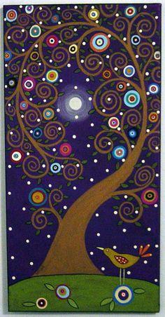 karla gerard art: folk art, Art - Trees, Tree of Life