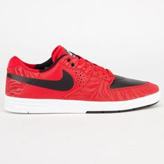NIKE Paul Rodriguez 7 Premium Mens Shoes  #nike #prod #skate #tiger #red #real #red #black #white #nice #suede